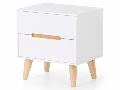 Product photograph showing Alicia 2 Drawer Bedside