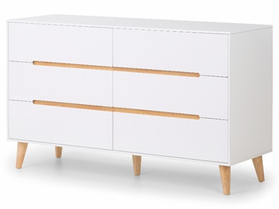 Product photograph showing Alicia 6 Drawer Wide Chest