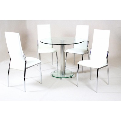 Product photograph showing Alonza Clear Dining Table