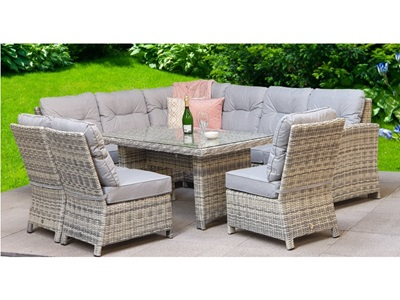 Product photograph showing Amy Corner Dining Sofa Set
