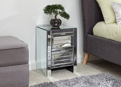 Product photograph showing Antigua 2 Drawer Louvered Chest