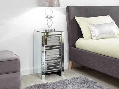 Product photograph showing Antigua 3 Drawer Louvered Chest