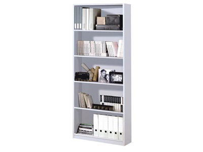 Product photograph showing Arctic Bookcase White
