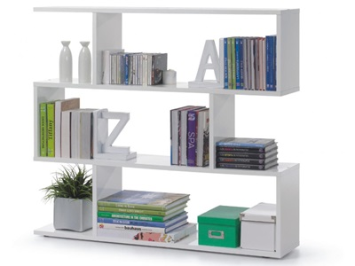 Product photograph showing Arctic Bookcase Wide White