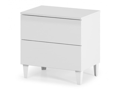 Product photograph showing Arctic Chest 2 Drawer White