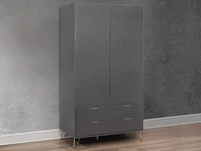 Product photograph showing Arlo 2 Door 2 Drawer Wardrobe