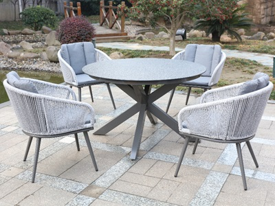 Product photograph showing Aspen 4 Seater Set