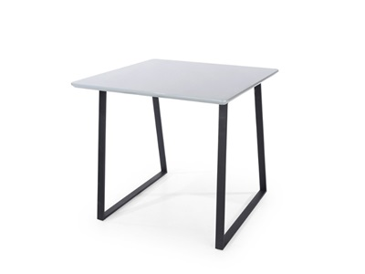 Product photograph showing Aspen Square Table With Black Metal Legs