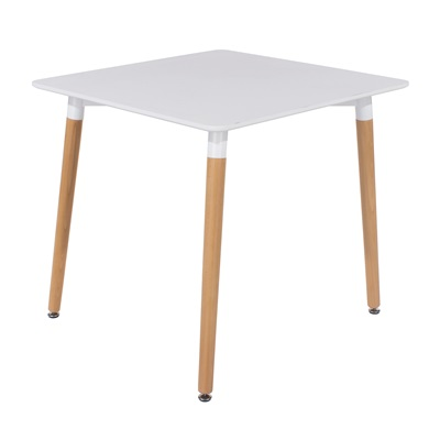 Product photograph showing Aspen Square Table With Wooden Legs