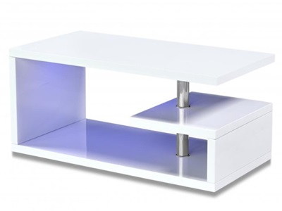 Product photograph showing Astana Led Coffee Table White High Gloss