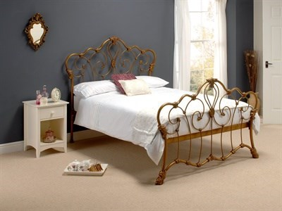 Original Bedstead Co Athalone in Bronze 4 6 Double Antique Bronze Slatted Bedstead Metal Bed