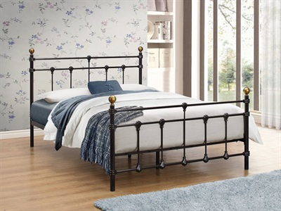 Birlea Atlas 4 6 Double Black Metal Bed