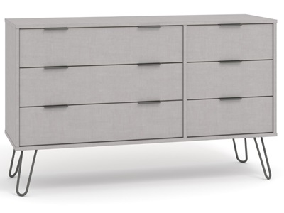 Product photograph showing Augusta 3 Plus 3 Drawer Wide Chest Of Drawers