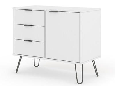 Product photograph showing Augusta Small Sideboard With 1 Door 3 Drawers