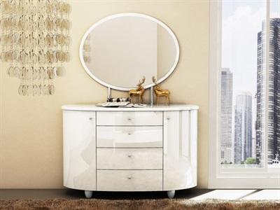 Birlea Aztec 4 Drawer Dresser and Mirror Drawer Chest