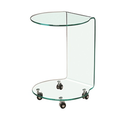 Product photograph showing Azurro Lamp Table Glass