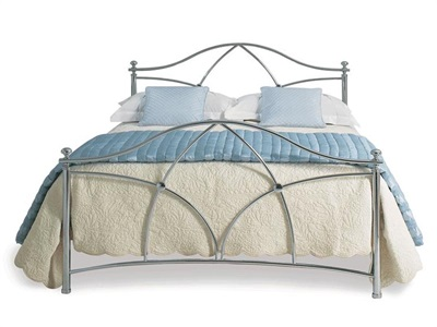 Original Bedstead Co Bansha 4 6 Double Chrome Slatted Bedstead Metal Bed