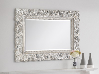 Product photograph showing Baroque Distressed Wall Mirror