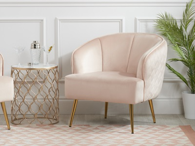 Product photograph showing Bella Chair Blush Pink
