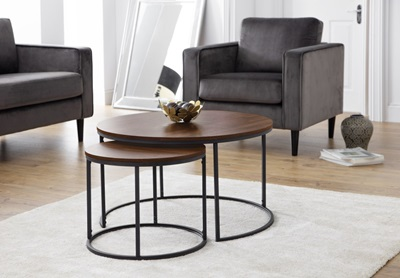Product photograph showing Bellini Round Nesting Coffee Table