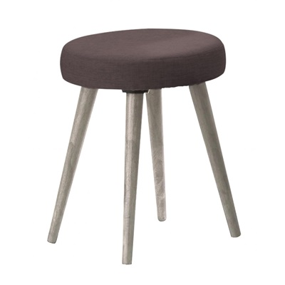 Product photograph showing Belvoir Dressing Table Stool Grey Oak
