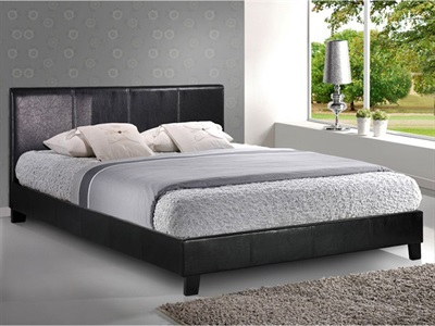 Birlea Berlin 3 Single Black Leather Bed