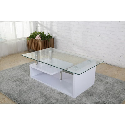 Product photograph showing Bernard Coffee Table High Gloss White