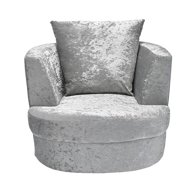 Product photograph showing Bliss Small Swivel Chair Silver