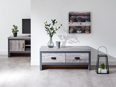 Product photograph showing Boston 2 Drawer Coffee Table