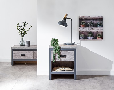 Product photograph showing Boston Lamp Table