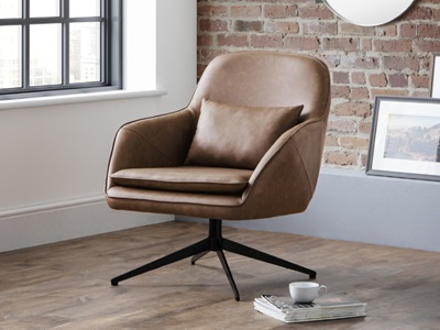 Product photograph showing Bowery Swivel Chair