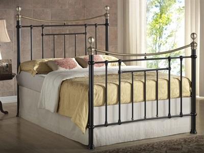Birlea Bronte 4 6 Double Cream Metal Bed