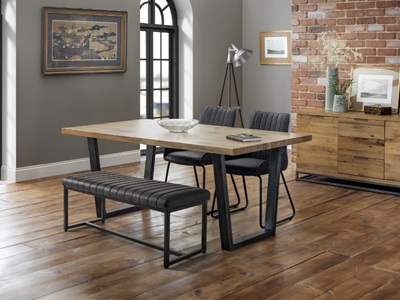 Product photograph showing Brooklyn Oak Dining Table