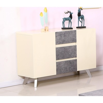 Product photograph showing Calipso High Gloss Sideboard Concrete