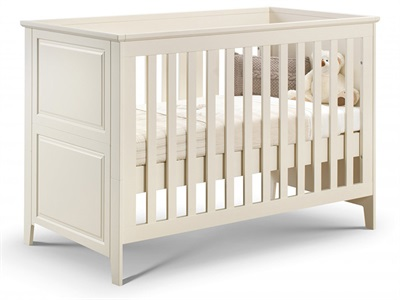 Julian Bowen Cameo Cot Bed Stone White Cot Bed