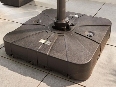 Product photograph showing Cantilever Parasol Base - 100 Litre Sand Water Fillable