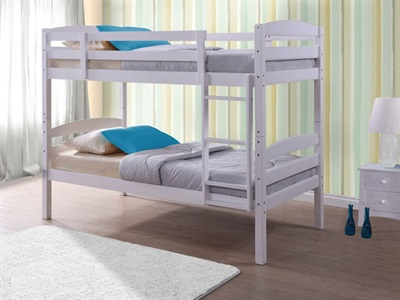 Birlea Chatsworth 3 Single White Bunk Bed
