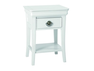 Bentley Designs Chantilly White 1 Drawer Nightstand Chantilly White Nightstand Bedside Chest
