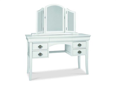 Bentley Designs Chantilly White Dressing Table Chantilly White Assembled Dressing Table