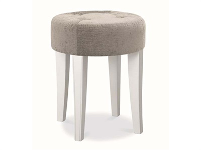 Bentley Designs Chantilly White Stool Chantilly White One Seater Stool