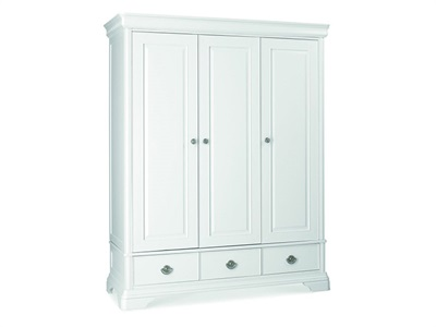 Bentley Designs Chantilly White Triple Wardrobe Chantilly White 3 Door Wardrobe