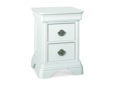 Bentley Designs Chantilly White 2 Drawer Nightstand Chantilly White Nightstand Bedside Chest