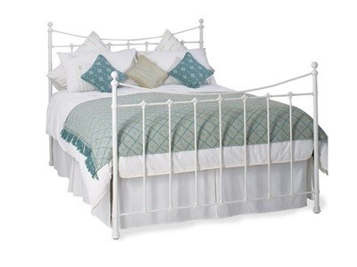 Original Bedstead Co Chatsworth Headboard 3 Single Satin White Headboard Only Metal Headboard