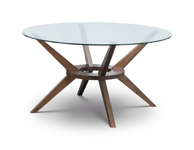 Product photograph showing Chelsea Large Round Glass Table