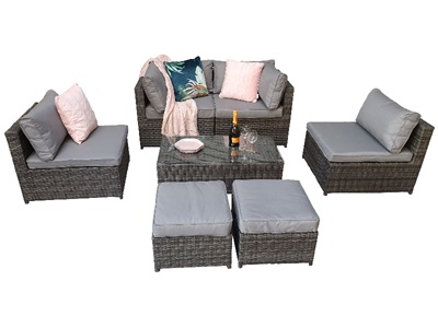 Product photograph showing Chelsea Modular Sofa Set - Grey