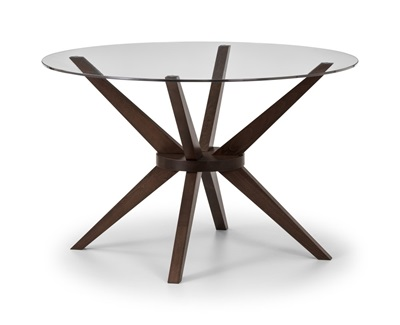 Product photograph showing Chelsea Round Glass Table