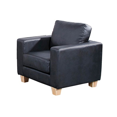 Product photograph showing Chesterfield Pu Leather 1 Seater Sofa