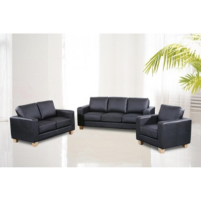 Product photograph showing Chesterfield Pu Leather 3 Seater Sofa