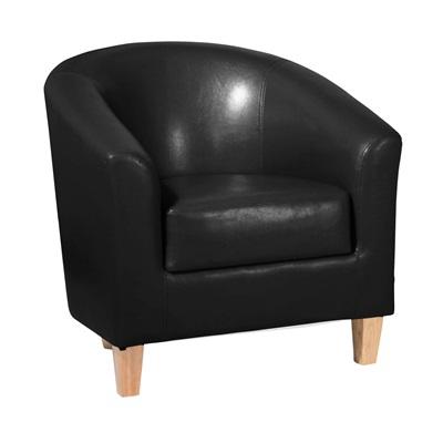 Product photograph showing Claridon Pu Leather 1 Seater Sofa