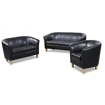 Product photograph showing Claridon Pu Leather 2 Seater Sofa